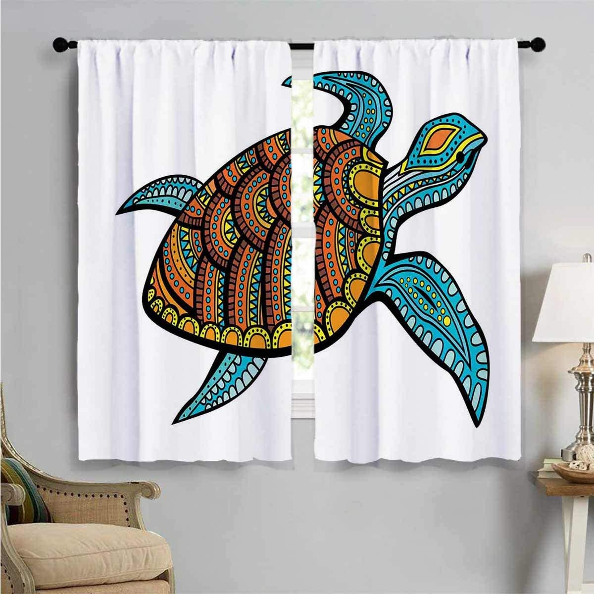 Window Curtain Drape Tropical Mail order cheap Bombing free shipping Pattern Room Living Drapes W for