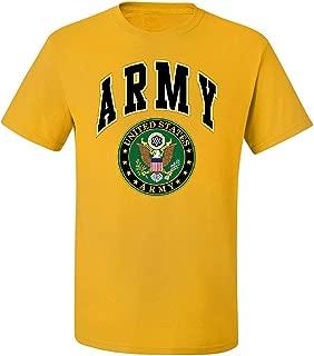 US Army T-Shirt Army Crest Patriotic Clothing Army Logo Emblem Shirts