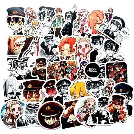 Skateboard Gift Fuguan Toilet-Bound Hanako-kun Sticker Pack Luggage Cute Car Sticker Desktop Decoration PVC Sticker for Laptop Car