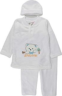 MFM, Traje de invierno de cuatro piezas para bebé, sudadera de forro polar, pantalón Jogger con sombrero y calcetines (1 top+1 pantalón+1 gorra+1 calcetines)