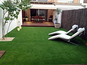 YAZLYN COLLECTION High Density Artificial Grass Carpet for Balcony with 4 Layers Protection (6.5 X 4 ft)