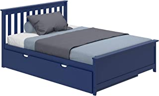 Max & Lily Solid Wood Full-Size Trundle Bed, Blue