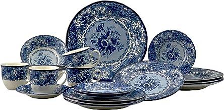 طقم ادوات مائدة 20 قطعة من سيلفرديل، بلو روز لاين (1604BS20)