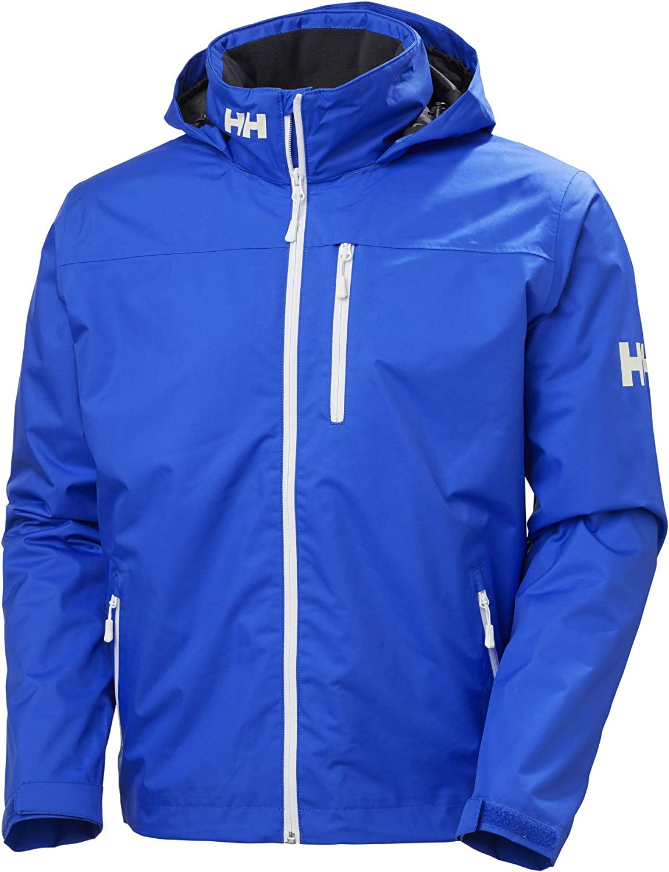 Helly-Hansen Men's Crew Hooded Midlayer Fleece Lined Waterproof Raincoat Jacket