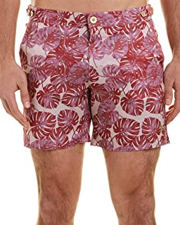 parke & ronen Mens Catalonia Swim Trunk, 31, Pink