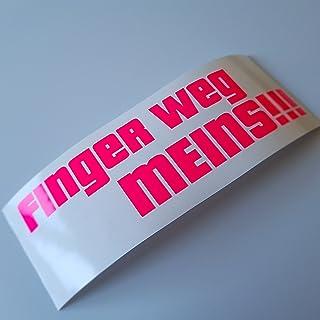 folien zentrum Finger Weg meins Neon pink Shocker Hand Auto Aufkleber JDM Tuning Autoaufkleber OEM Dub Decal Stickerbomb Bombing Fun Roller Scooter Motorrad 437
