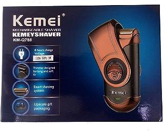 Barbeador Eletrico Barba Aparador Portatil Recarregavel Kemei Shaver Km-q788