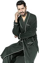 Nightgown Men's Pajamas Autumn And Winter Cotton Pajamas Long-Sleeved Bathrobe Plus Size Men's Bathrobe Home Service Three...