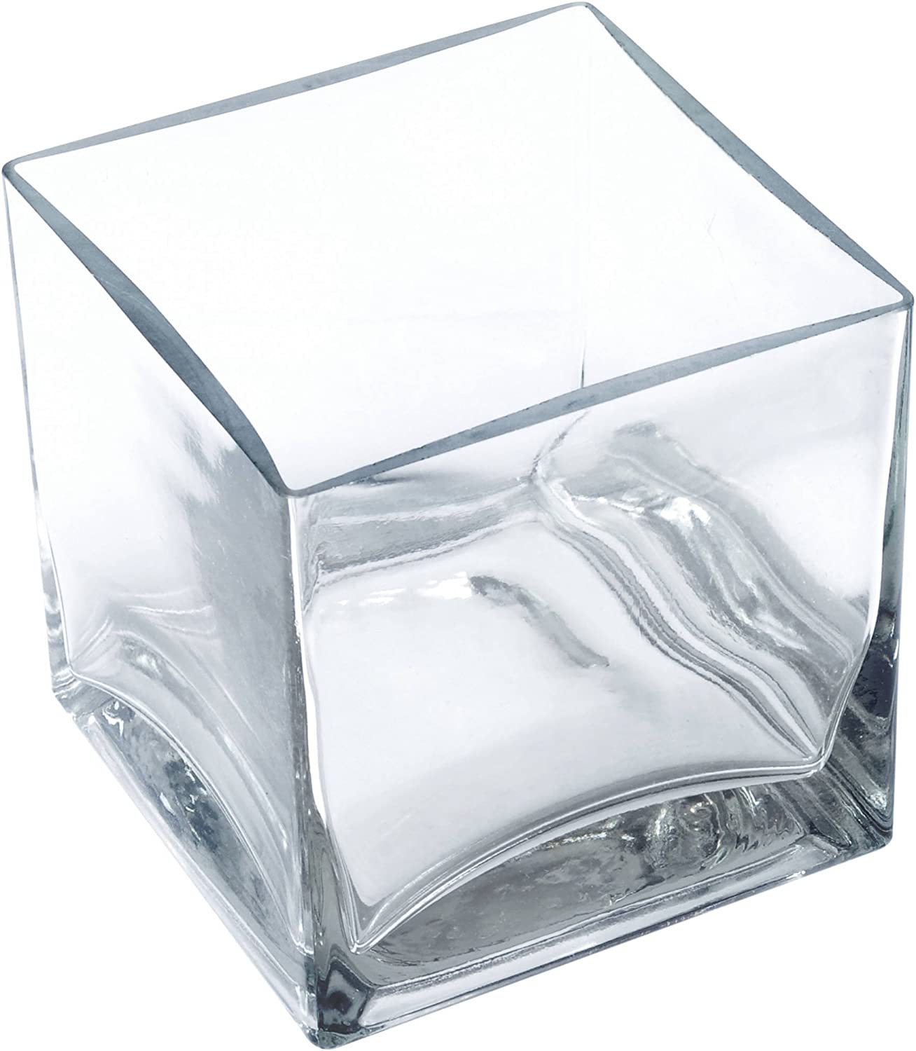 Clear Square Cubic Glass Time sale Vase 6 4x4x4 Centerpi Ranking TOP7 Cube Inches Pack-