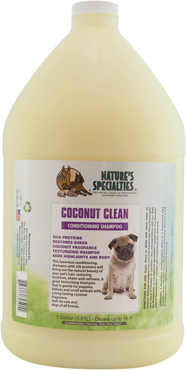 Nature's Specialties Coconut Mail order Clean Year-end gift for Shampoo Dog Conditioning