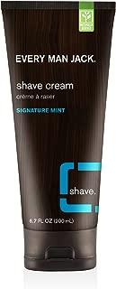 Every Man Jack Shaving Cream, Signature Mint, 6.7 Fluid Ounce