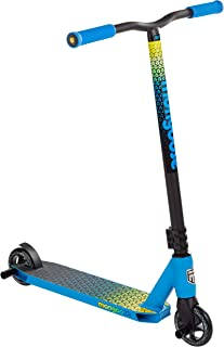 Mongoose Rise Stunt Kick Scooter Series, Featuring Lightweight Alloy Deck and One-Piece Welded T-Bar Handlebars with 100-110mm Wheels, Multiple Colors Available