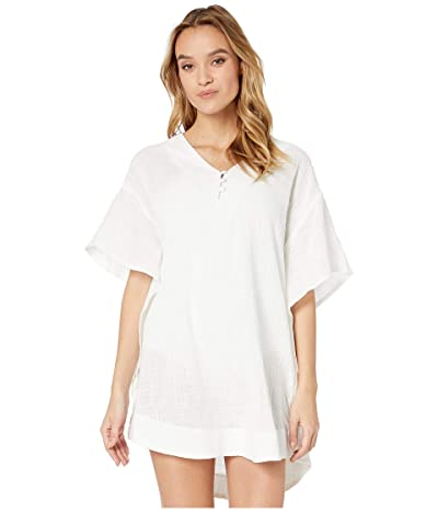 DOTTI Paxi Isle Gauze Covered Button Tunic Cover-Up (White) Women