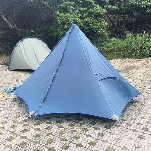 ZZPEO Tente De Plage De Camping Ultra-Légère pour 2 Personnes à Double Couche Imperméable Au Silicium