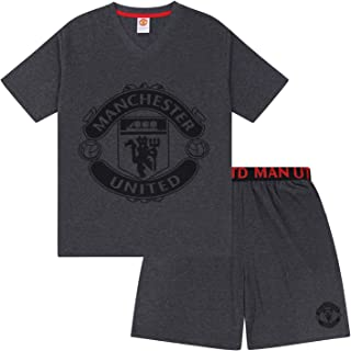 Manchester United Mens Pyjamas Short Loungewear Official Football Gift