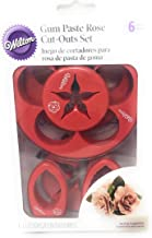 Wilton Rose Cut-Outs Set and Directions to Create with Gum Paste-6 cutters