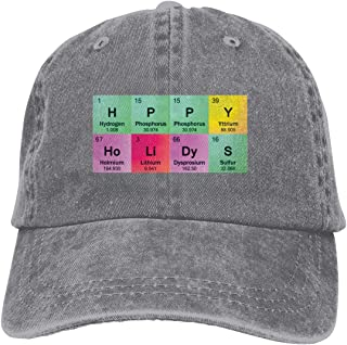 1bf321f9 Unisex New Science Teacher Funny Elements Periodic Vintage Chic Denim  Adjustable Dad Hats Baseball Cap Black