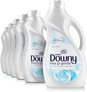 Downy Free & Gentle Liquid Fabric Conditioner (Fabric Softener), 34 fl.oz, (Packaging May Vary) (Pack of 6)