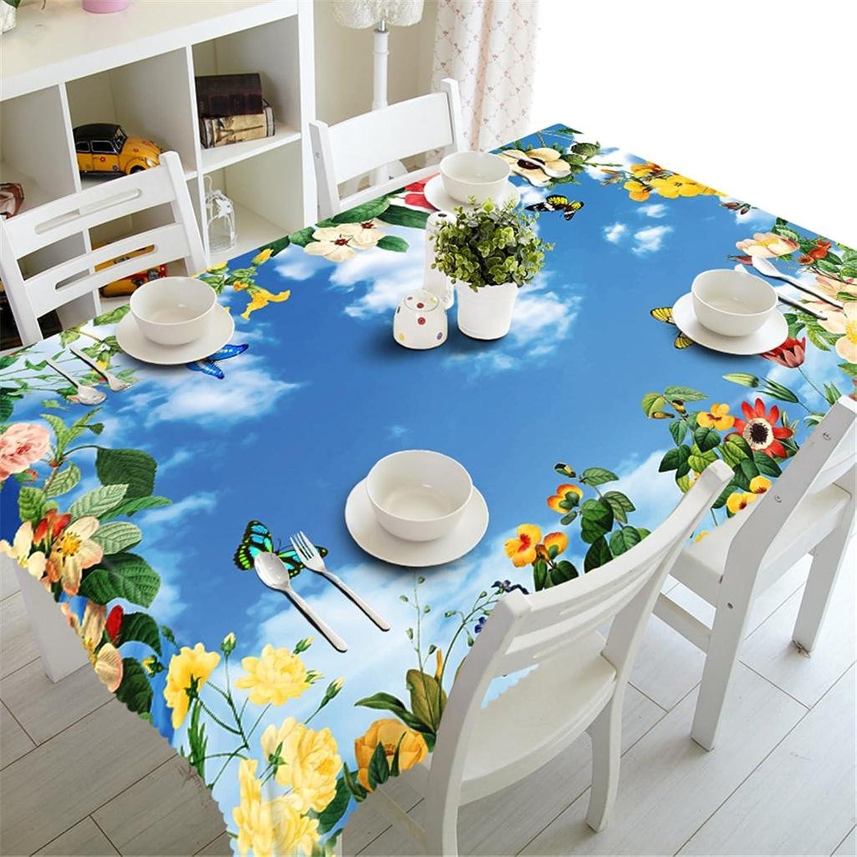 online al mejor precio Mantel Poliéster 3D Flores Flores Flores de Color azul cielo Impresión A prueba de polvo Cubierta de la mesa Boda Fiesta Cena Comida Decorativo , n  servicio considerado
