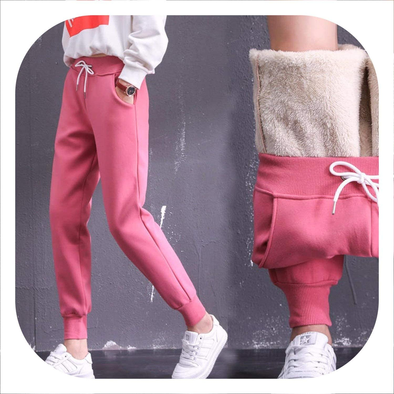 Jacket Pantalon Femme Plus Velvet Thicken Lambs Wool Sweatpants Casual Harem Pants