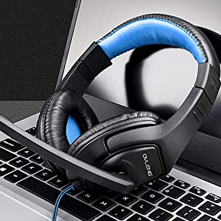 OVLENG OV-P1 3.5mm gaming headphones Gaming headsets music headphone stereo headset With MIC for Mobile phones PS4 and Laptops blue