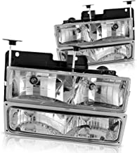 Composite Headlights & Headlamp with Bumper Lights for 1994-2002 Chevy GMC Pickup Truck