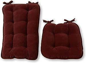Greendale Home Fashions Jumbo Rocking Chair Cushion, Cherokee Solid, Wine
