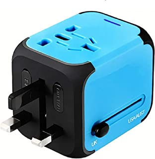 Travel Adapter SAG Dual USB All-in-one Worldwide Travel Chargers Adapters for US EU UK AU About 152 Countries Wall Univers...