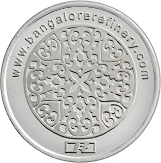 Bangalore Refinery 999 Purity Investment/Flower Silver Coin 20 Gram