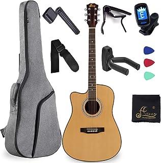 Guitarra acústica de tamaño completo para zurdos, tamaño