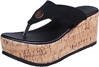Pantofole Donna Moda Scarpe Casual Pantofole da Esterno per Il Tempo Libero Traspiranti con Tacco a Zeppa