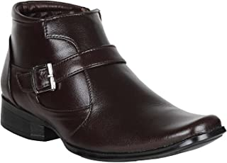 Vincenzo Men's Leather Boots/Shoes (Black)
