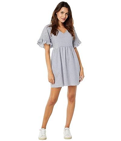 Madewell 67 Ruffle Sleeve Easy Mini Dress in Gingham