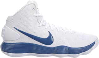 32fcebbb9edf NIKE Men s React Hyperdunk 2017 White Court Blue Nylon Running Shoes 10 D(M