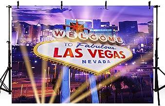 MEHOFOTO Welcome to Fabulous Las Vegas - Fondo para decoración de fiestas de cumpleaños (7 x 5 m)