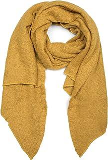 styleBREAKER Damen weicher unifarbener Web Schal in asymmetrischer Form, Winter, Stola 01017118