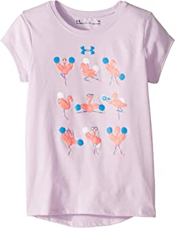 Flamingo Cheerleader Short Sleeve T-Shirt (Little Kids)