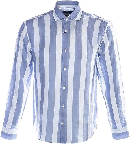 Frescobol voitureioca grand Stripe Shirt in Slate bleu & blanc