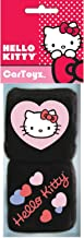 U.A.A. INC. Hello Kitty Auto Accessory Rearview Mirror Hanging Fuzzy Dice