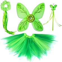 Tinkerbel Costume Dress Up Cosplay Fairy Wings for Birthday Party Tutu Set