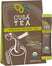 Cusa Tea: Premium Instant Tea - Organic Tea and Real Fruit and Spices - No Sugar or Artificial Flavors - Ready in Seconds - Hot or Iced Tea - English Breakfast 10 Servings