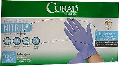 Curad / Medline Powder Free Nitrile Exam Glove/medical Exam Quality Medium 200 Ct