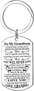 Grandson Gifts From Grandma I Want You To Believe Deep In Your Heart Keychain Inspirational Gifts
