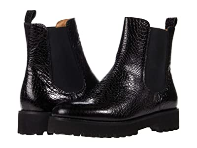 Andre Assous Peggy (Black Croc) Women