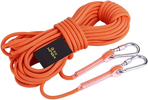 ZAIYI 9,5   12Mm Alpinisme Auxiliaire Camping Sauvetage Empaqueté Corde De Rechange De Ménage Slip Wear, Orange,Orange-12mm20m