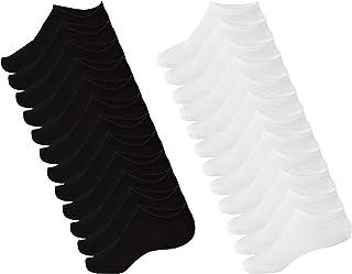 Oemen, Calcetines Cortos Fantasmas 3 o 6 o 12 Pares de Algodón Negro y Blanco Unisex