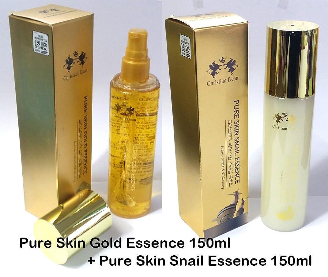 驚くばかり突然のライド[Christian Dean] ピュアスキンゴールドエッセンス150ml +ピュアスキンカタツムエッセンス150ml / Pure Skin Gold Essence 150ml + Pure Skin Snail Essence 150ml / 純金エキス(99.9%)/カタツムリ/ 韓国化粧品 / pure gold extract (99.9%) / Snail mucin / Korean cosmetics [並行輸入品]