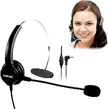 TRIPROC Monaural DC 2.5MM Telephone Headset for Landline Phones,Compatible for Jabra Cisco Polycom Panasonic (Monaural)