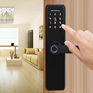 Smart Door Lock, Mechanische Sleutels Vochtbestendige Ondersteuning USB Noodstroomvoorziening Wachtwoorden Vingerafdruk De...