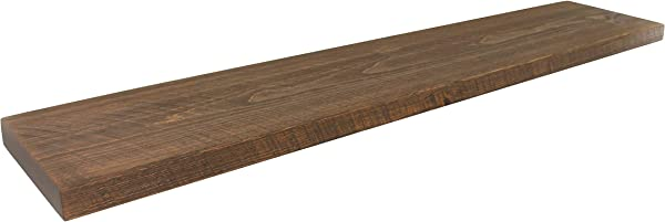 Joel S Antiques Reclaimed Decor 72 X 12 X 2 Floating Medium Brown Rustic Wood Shelf Pine Dishes Books Open Shelving Heavy Duty Breakfast Bar Desk